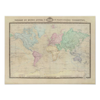 Historical World Map 2 Poster