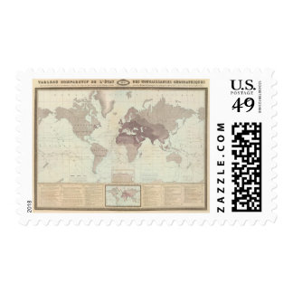 Historical World Map Postage