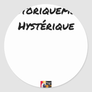 HISTORICALLY HYSTERICAL - Word games Classic Round Sticker