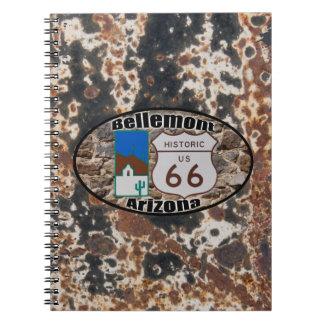 ~ histórico Bellemonte, Arizona de la ruta 66 Libreta