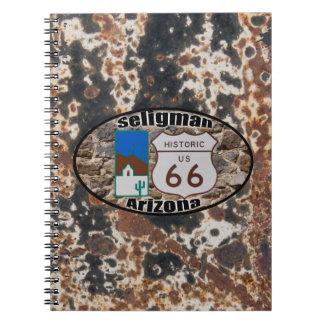 ~ histórico Seligman, Arizona de la ruta 66 Spiral Notebooks
