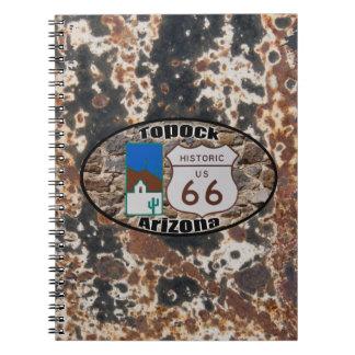 ~ histórico Topock, Arizona de la ruta 66 Libro De Apuntes Con Espiral