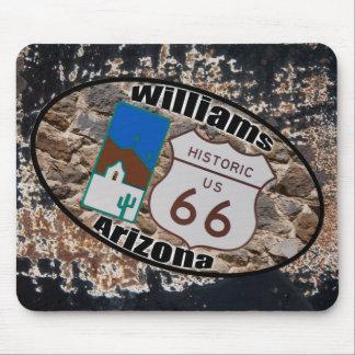 ~ histórico Williams, Arizona de la ruta 66 Tapetes De Ratones