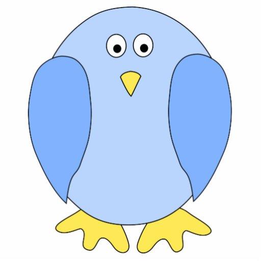 Historieta azul clara linda del pájaro escultura fotografica