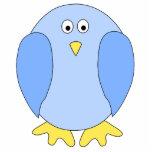 Historieta azul clara linda del pájaro escultura fotográfica