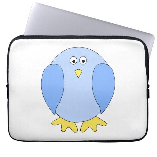 Historieta azul clara linda del pájaro mangas computadora