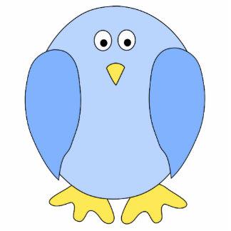 Historieta azul clara linda del pájaro pin fotoescultura