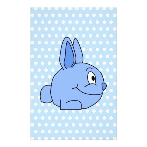 Historieta azul divertida del conejo tarjetas informativas