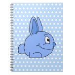 Historieta azul divertida del conejo libreta