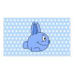Historieta azul divertida del conejo tarjetas de visita