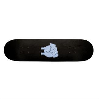 Historieta azul linda del elefante patineta personalizada