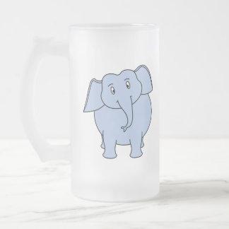 Historieta azul linda del elefante taza de café