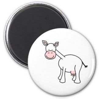 Historieta blanca de la vaca imán para frigorifico