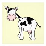 Historieta blanco y negro de la vaca anuncio
