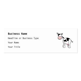 Historieta blanco y negro de la vaca tarjetas de visita mini