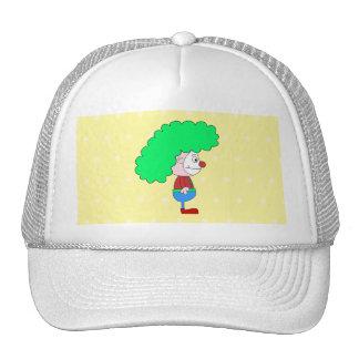 Historieta colorida del payaso gorras