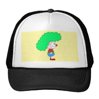 Historieta colorida del payaso gorra