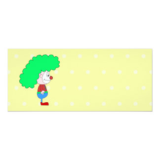 Historieta colorida del payaso invitación 10,1 x 23,5 cm
