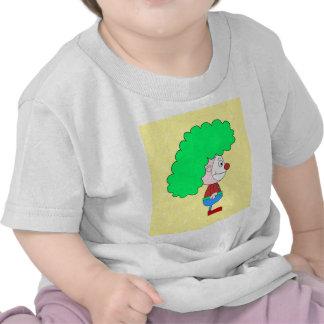 Historieta colorida del payaso camisetas