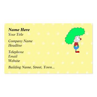 Historieta colorida del payaso plantilla de tarjeta de visita