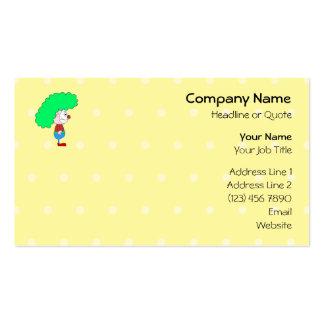 Historieta colorida del payaso tarjetas de negocios