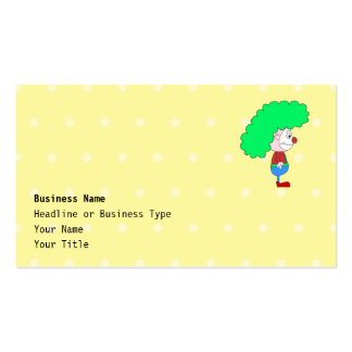 Historieta colorida del payaso plantillas de tarjetas de visita