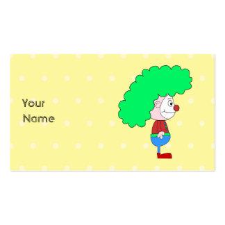 Historieta colorida del payaso tarjeta de visita