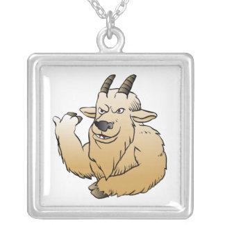 Historieta de la cabra de montaña colgante cuadrado