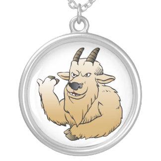 Historieta de la cabra de montaña colgante redondo