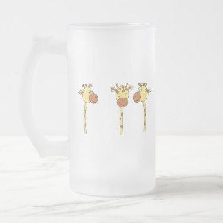Historieta de tres jirafas tazas de café