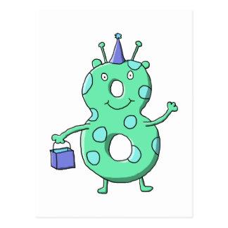 Historieta del cumpleaños del verde del trullo 8va tarjeta postal