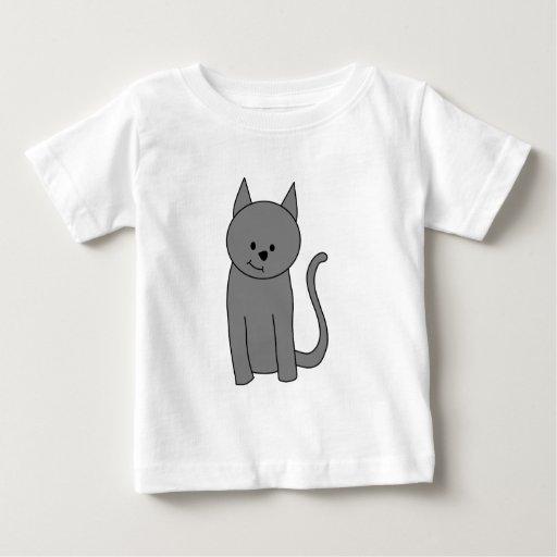 Historieta del gato del gris ahumado camiseta