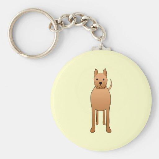 Historieta del perro llavero redondo tipo pin