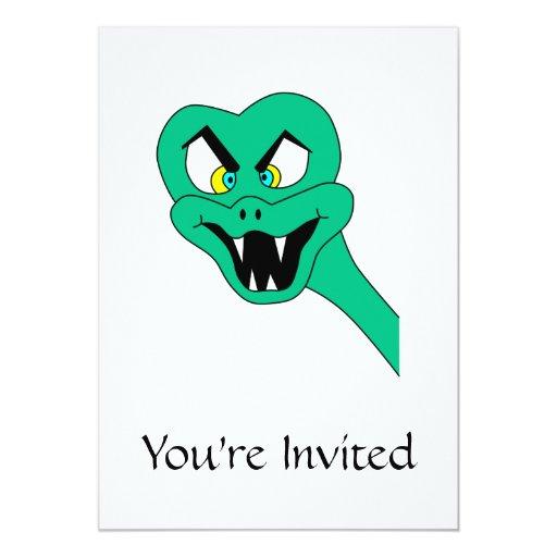 """Historieta divertida de la serpiente invitación 5"""" x 7"""""""