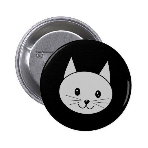 Historieta gris del gato pin