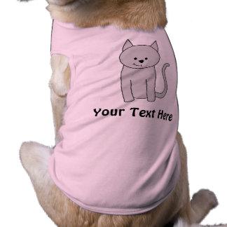 Historieta gris del gato playera sin mangas para perro