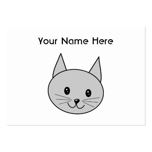 Historieta gris del gato plantillas de tarjetas personales