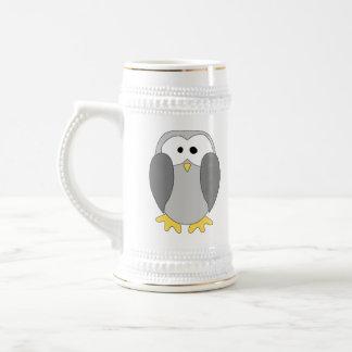 Historieta linda del pingüino tazas