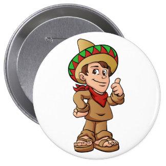 historieta mexicana del niño pin redondo de 4 pulgadas