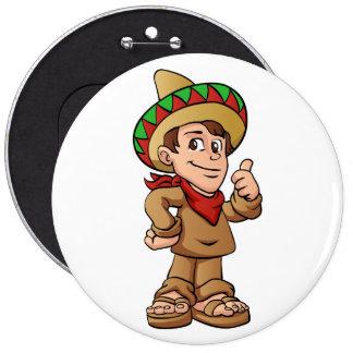historieta mexicana del niño pin redondo de 6 pulgadas