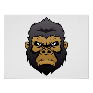 Historieta principal del gorila póster