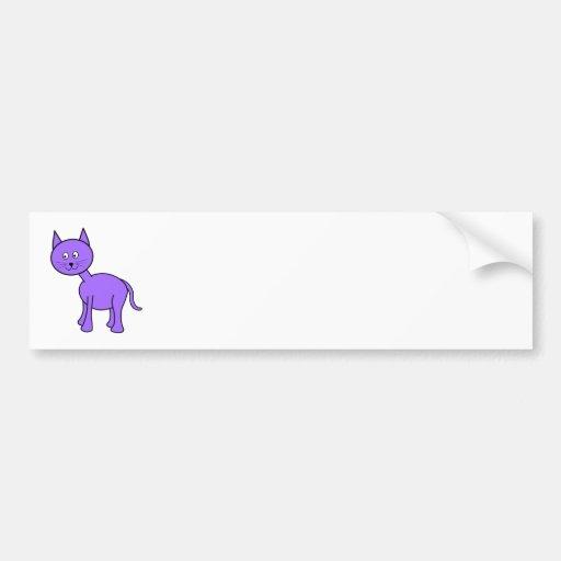 Historieta púrpura linda del gato pegatina para auto