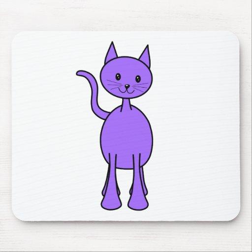 Historieta púrpura linda del gato mousepad