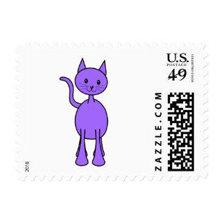 Historieta púrpura linda del gato envio