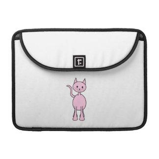Historieta rosada linda del gato fundas para macbook pro