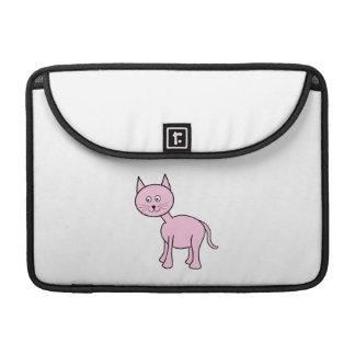 Historieta rosada linda del gato funda para macbook pro