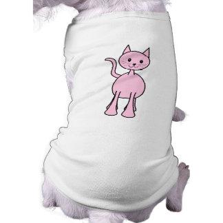 Historieta rosada linda del gato ropa de perro