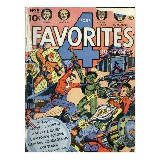 Historietas del vintage - postal