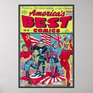 Historietas del vintage - póster