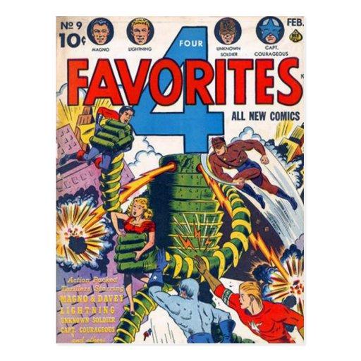 Historietas del vintage - tarjeta postal
